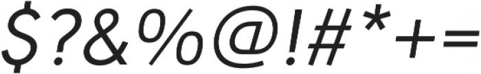 URW Geometric Regular Oblique otf (400) Font OTHER CHARS