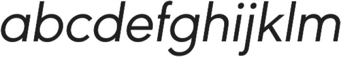 URW Geometric Regular Oblique otf (400) Font LOWERCASE