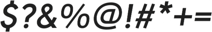 URW Geometric Semi Bold Oblique otf (600) Font OTHER CHARS