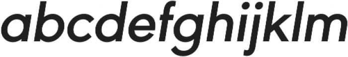 URW Geometric Semi Bold Oblique otf (600) Font LOWERCASE
