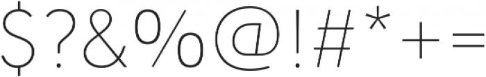 URW Geometric Thin otf (100) Font OTHER CHARS