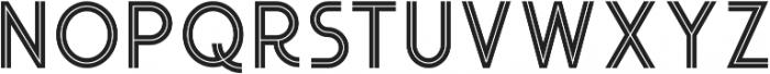Urban Inline otf (400) Font UPPERCASE