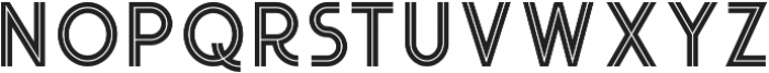 Urban Inline otf (400) Font LOWERCASE