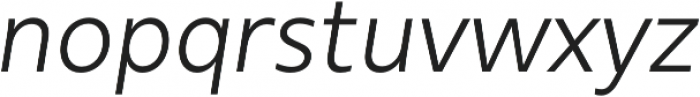 Urbani Book Italic otf (400) Font LOWERCASE