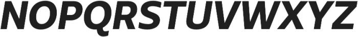 Urbani ExtraBold Italic otf (700) Font UPPERCASE
