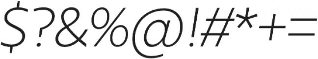 Urbani Light Italic otf (300) Font OTHER CHARS