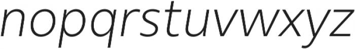 Urbani Light Italic otf (300) Font LOWERCASE