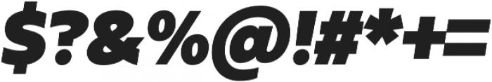 Urbani UltraBlack Italic otf (900) Font OTHER CHARS