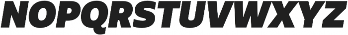 Urbani UltraBlack Italic otf (900) Font UPPERCASE