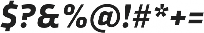 Urfa Bold Italic otf (700) Font OTHER CHARS