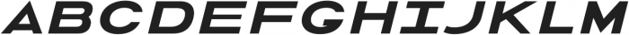 Urucungo Bold Oblique otf (700) Font UPPERCASE
