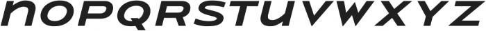 Urucungo Bold Oblique otf (700) Font LOWERCASE