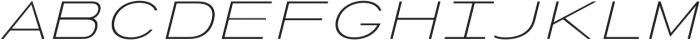 Urucungo Light Oblique otf (300) Font UPPERCASE