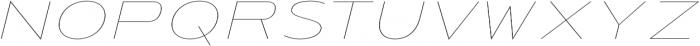 Urucungo Thin Oblique otf (100) Font UPPERCASE