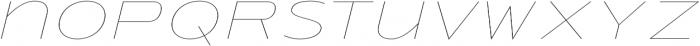 Urucungo Thin Oblique otf (100) Font LOWERCASE