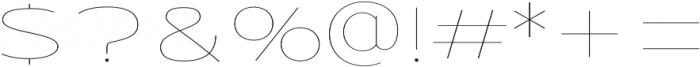 Urucungo Thin otf (100) Font OTHER CHARS