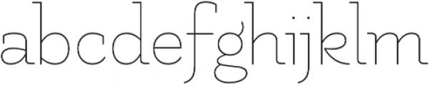 Uruga otf (300) Font LOWERCASE