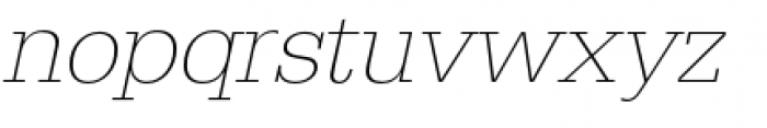 URW Egyptienne Extra Light Oblique Font LOWERCASE