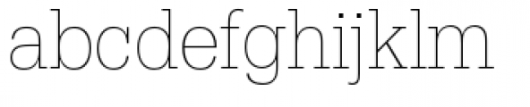 URW Egyptienne Extra Narrow Extra Light Font LOWERCASE