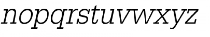 URW Egyptienne Extra Narrow Light Oblique Font LOWERCASE