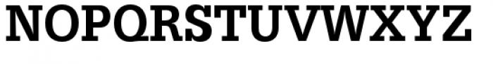 URW Egyptienne Extra Narrow Medium Font UPPERCASE