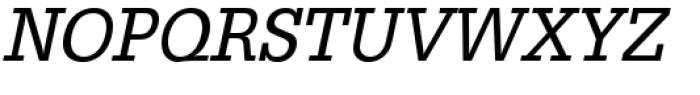 URW Egyptienne Extra Narrow Regular Oblique Font UPPERCASE