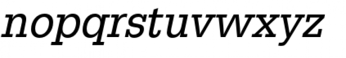 URW Egyptienne Extra Narrow Regular Oblique Font LOWERCASE