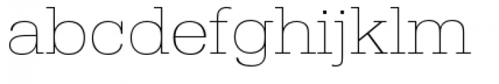 URW Egyptienne Extra Wide Extra Light Font LOWERCASE