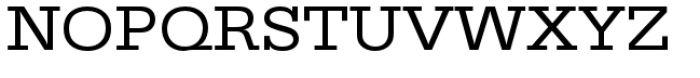 URW Egyptienne Extra Wide Regular Font UPPERCASE