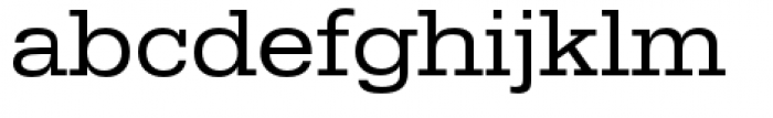 URW Egyptienne Extra Wide Regular Font LOWERCASE