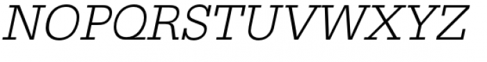 URW Egyptienne Light Oblique Font UPPERCASE