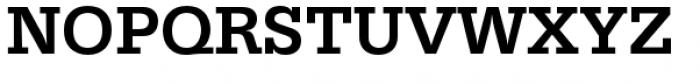 URW Egyptienne Medium Font UPPERCASE