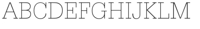URW Egyptienne Narrow Extra Light Font UPPERCASE