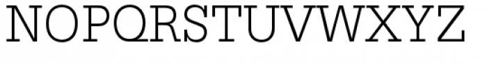 URW Egyptienne Narrow Light Font UPPERCASE