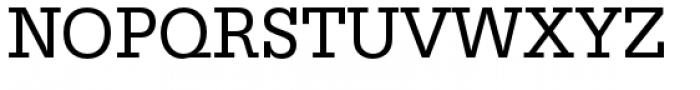 URW Egyptienne Narrow Regular Font UPPERCASE