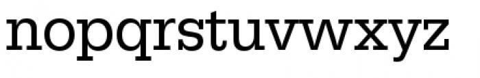 URW Egyptienne Narrow Regular Font LOWERCASE
