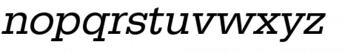 URW Egyptienne Regular Oblique Font LOWERCASE
