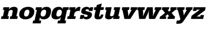 URW Egyptienne Wide Bold Oblique Font LOWERCASE