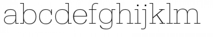 URW Egyptienne Wide Extra Light Font LOWERCASE