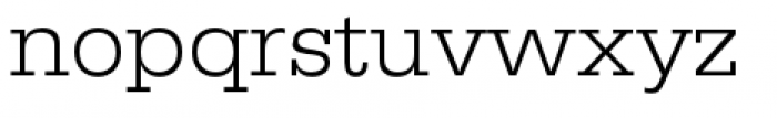 URW Egyptienne Wide Light Font LOWERCASE