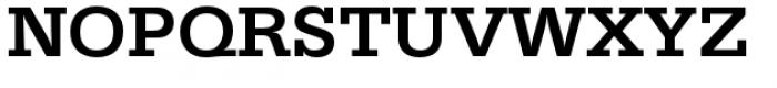 URW Egyptienne Wide Medium Font UPPERCASE