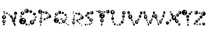 Ur Company's Bubbles Fantasy Font UPPERCASE