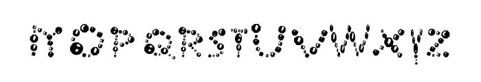 Ur Company's Bubbles Fantasy Font LOWERCASE