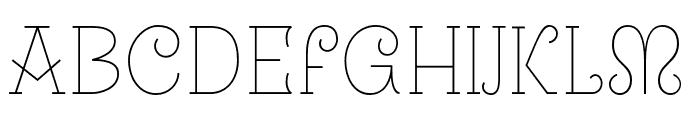 Uralita-Fina Font LOWERCASE