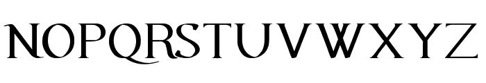 Urania Serif Font UPPERCASE