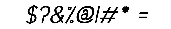 Urban Elegance Bold Italic Font OTHER CHARS