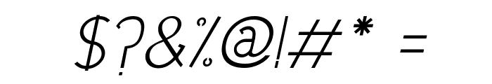 Urban Elegance Italic Font OTHER CHARS