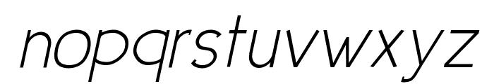 Urban Elegance Italic Font LOWERCASE