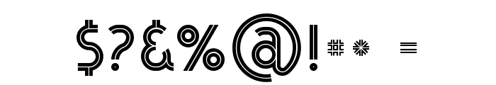 Urban Inline Font OTHER CHARS