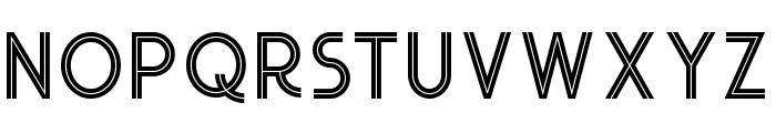 Urban Inline Font UPPERCASE